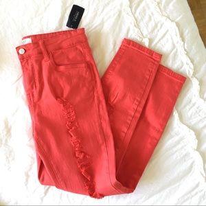 BOGO 50% OFF - Forever 21 bright coral jeans